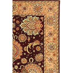 Safavieh Handmade Treasures Burgundy/ Beige Wool and Silk Rug (5' x 8')