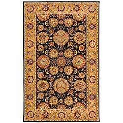 Safavieh Handmade Legacy Navy/ Light Gold Wool and Silk Rug (5' x 8')