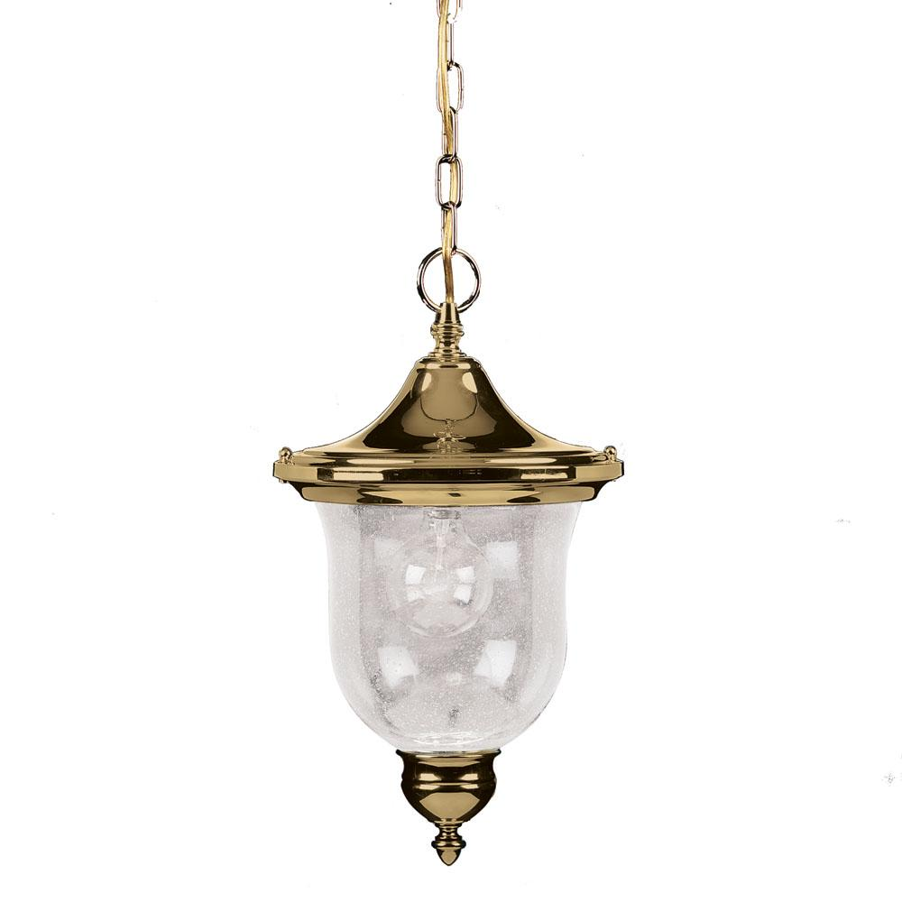 Aztec Lighting Polished Brass Outdoor Pendant