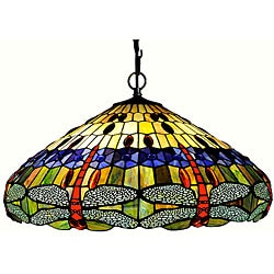 Tiffany-style Dragonfly Hanging Light