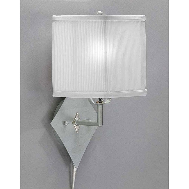 Pin-up Plug-in Brushed Nickel Lamp