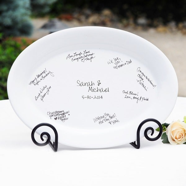 Guest Signature Platter and Easel Set