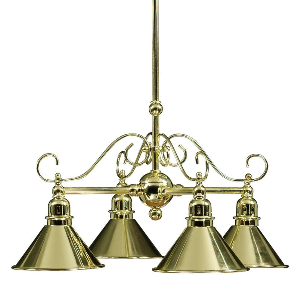 Polished Brass 4-light Chandelier