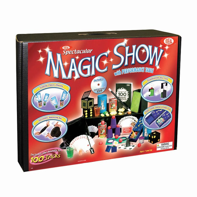 Cadaco Deluxe 100-trick Instructional DVD Magic Suitcase Set
