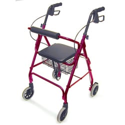 Mabis Healthcare Royal Blue Rollator Walker