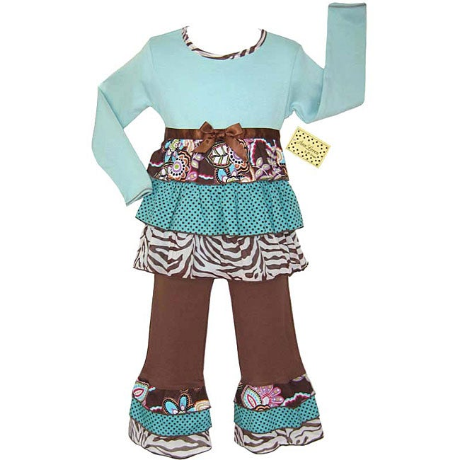 AnnLoren 2-piece Jungle Rumba Girl's Outfit