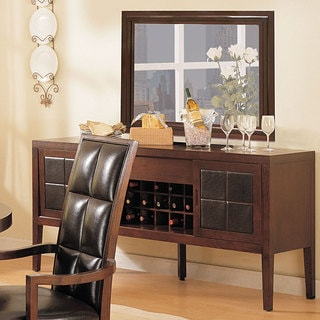 Sideboard with Leather Sliding Doors