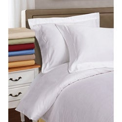 Simple Elegance Egyptian Cotton Single Ply 1000 Thread Count Solid 3-piece Duvet Cover Set