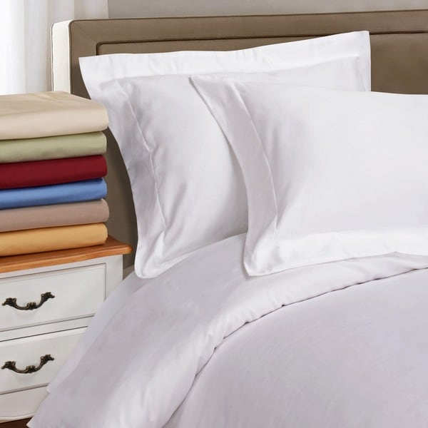 Luxor Treasures Egyptian Cotton Single Ply 1000 Thread Count Solid 3-piece Duvet Cover Set