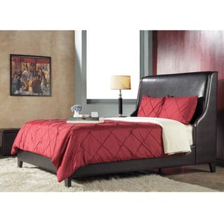 Synthetic Leather California King-size Wingback Bed