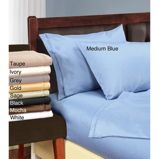 100-percent Egyptian Luxurious Cotton 1500 Thread Count Solid Pillowcase Set