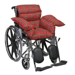 Mabis Healthcare Red Plaid Comfort Pillow Cushion