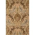 Hand-tufted Alyah Beige/ Multi Wool Area Rug (5' x 7'6)