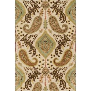 Hand-tufted Alyah Ivory/ Multi Wool Rug (5' x 7'6)