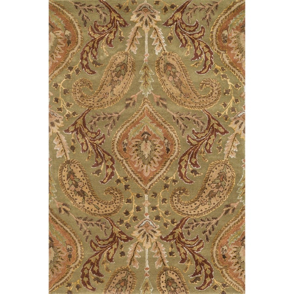 Hand-tufted Alyah Sage/ Multi Wool Rug (3'6 x 5'6)