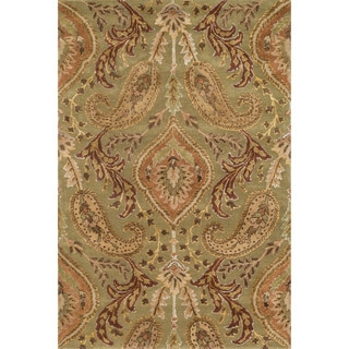 "Hand-tufted Alyah Sage/ Multi Wool Rug (5' x 7'6"")"