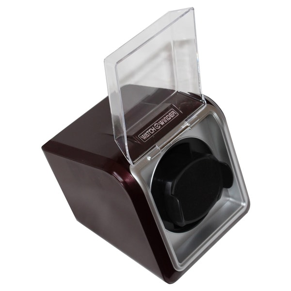 Burgundy High-gloss Single Watch Winder
