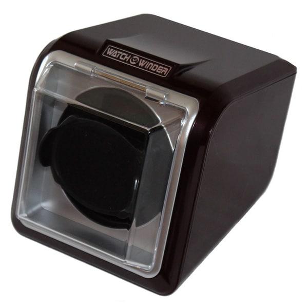 High-gloss Black Plastic Single Watch Winder