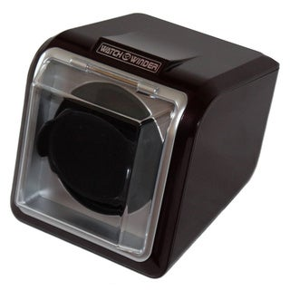 High-gloss Black Plastic Single Watch Winder
