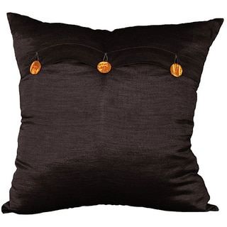 Handmade Black Thai Silk Pillow Cover