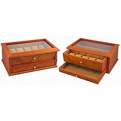 Wood 10-watch Collection Box with Window