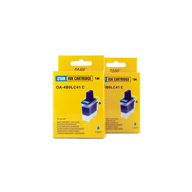 Cyan Ink Cartridge for Brother LC41C (Pack of 2)