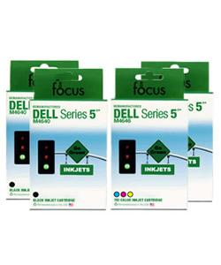 Dell M4640/ M4646 4-pack Ink Cartridge Combo (Remanufactured)