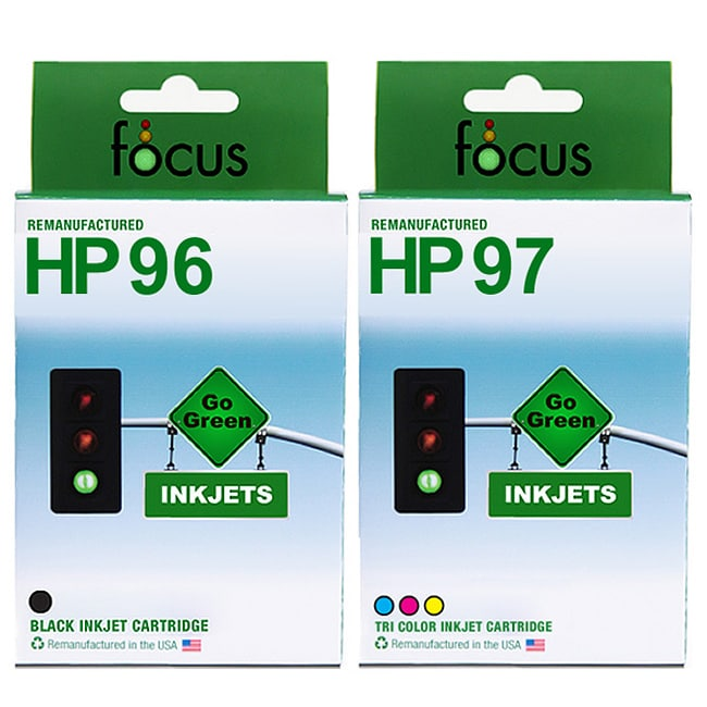 HP 96 and 97 Combo-pack Inkjet Print Cartridges (Remanufactured)