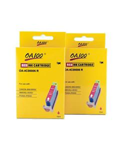 Red Ink Cartridge for Canon BCI-6R (Pack of 2)