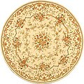 Safavieh Handmade Paradise Bouquet Ivory Wool and Silk Rug (4' Round)