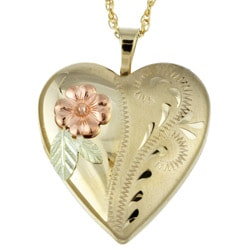 Black Hills Yellow Gold Heart Locket