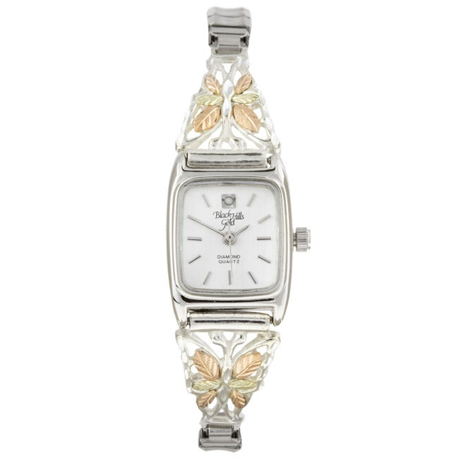 Black Hills Gold and Sterling Silver Butterfly Watch