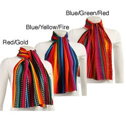Worldstock Traditional Multicolor Handwoven Scarf (Guatemala)