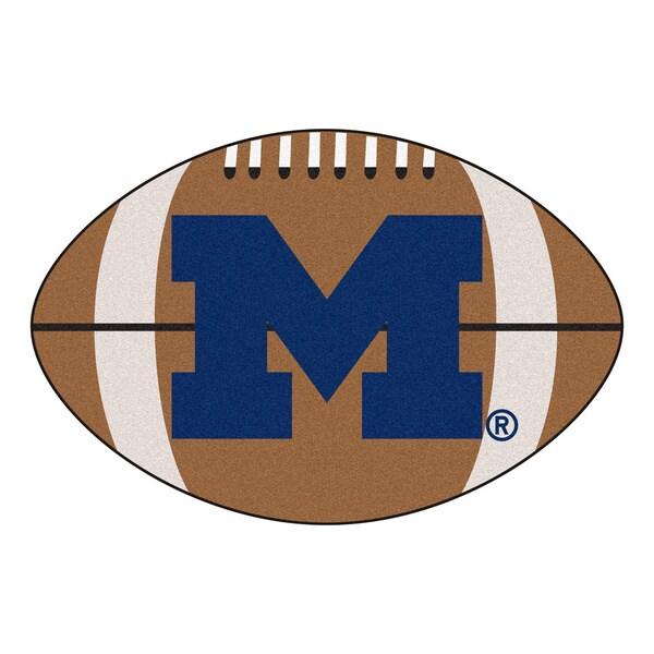 Fanmats Ncaa University Of Michigan Football Shaped Rug
