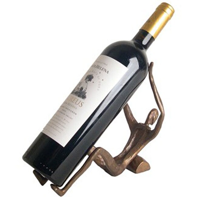 Cast Bronze Wine Holder Statuette