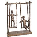 Children On Swings Cast Bronze Statue