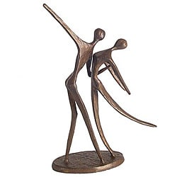 Cast Bronze 'Dancing Couple' Statue