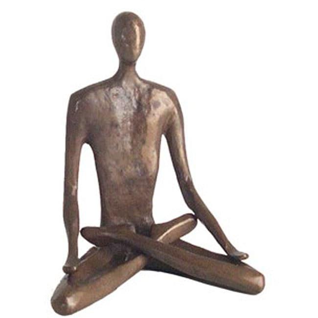 Yoga Lotus 6-inch Cast Bronze Sculpture
