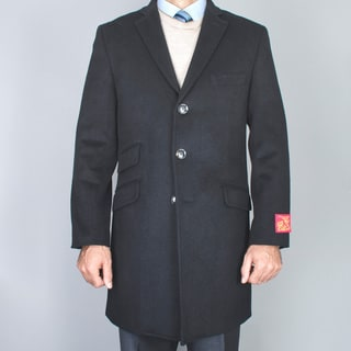 Mantoni Men's Wool and Cashmere Car Coat