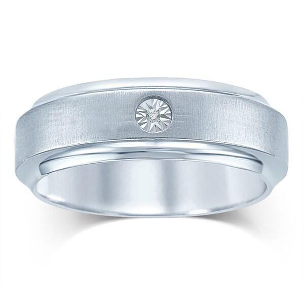 Unending Love 10k Gold and Stainless Steel Men's Diamond Ring (IJ, I2-I3)