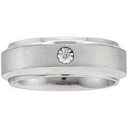 10k Gold and Stainless Steel Men's Diamond Ring (IJ, I2-I3)