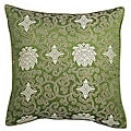 Handmade Chinese Lotus Green Cushion Cover