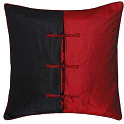 Chinese Ties Black/ Red Pillow Sham
