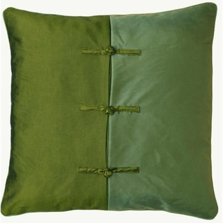 Chinese Ties Green/ Blue Pillow Sham