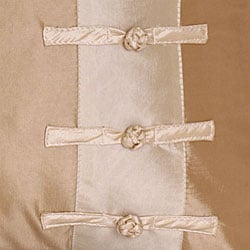 Flower and Ribbon Silky Beige/ Taupe Cushion Cover