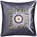Chinese Calligraphy Silver Cushion Cover
