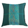 Decorative Silky Blue Floral Cushion Cover