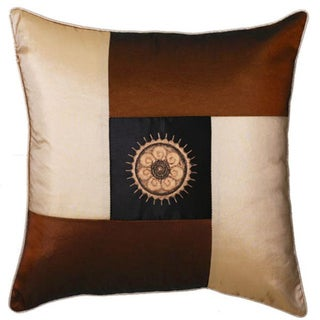 Decorative Brown and Beige Sunflower Cushion Cover
