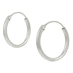 Tressa Sterling Silver Hoop Earrings