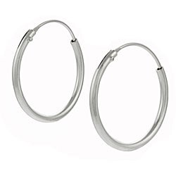 Tressa Sterling Silver 20mm Hoop Earrings